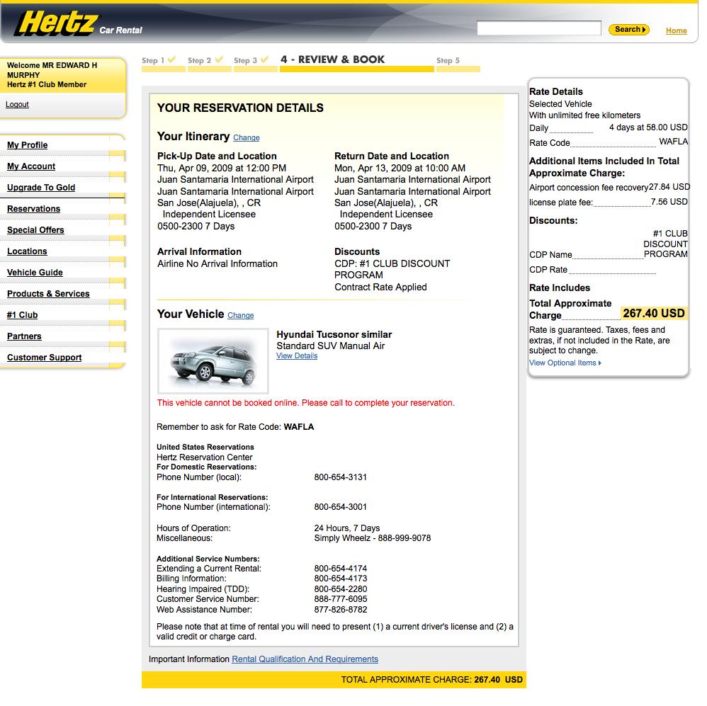 Hertz.com is a Waste