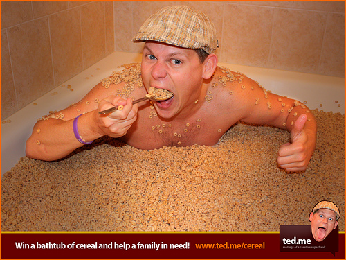 Win a Bathtub Full of Cereal